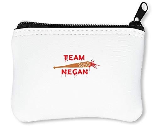 Team Negan Cool Bloody Baseball Bat Reißverschluss-Geldbörse Brieftasche Geldbörse -