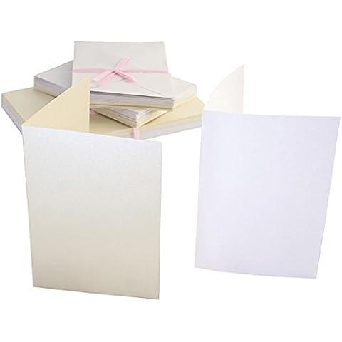 Set 50 carte e buste A6 - Timeless Pearlescent - Carta Stationery Set