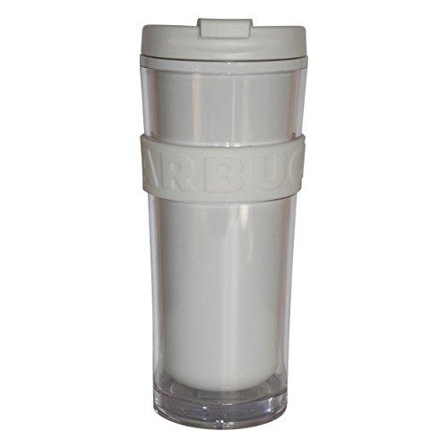 Starbucks Tumbler Core Schwarz weiß 16oz/473ml (weiß, 16oz/473ml)