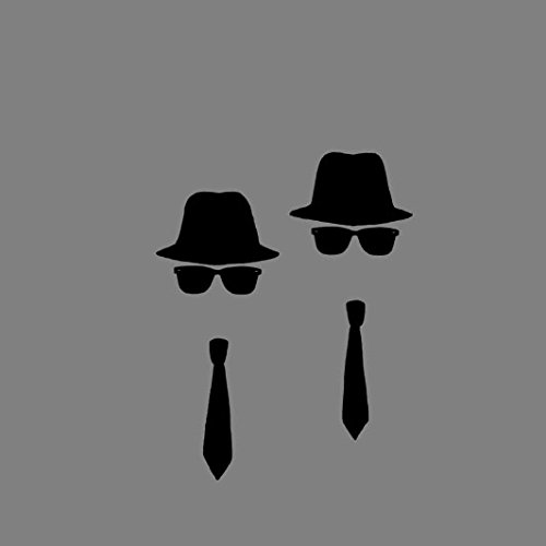 Blues Brothers - Stofftasche / Beutel Hellgrün