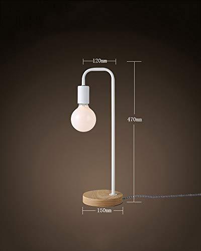 JIE Tischlampe-Moderne einfache Schlafsaal kreative Individualität Schlafzimmer Studie Schreibtisch Nachttischlampe hölzerne Schüler Schreibtischlampe,2 (Schreibtisch Schüler Zwei)
