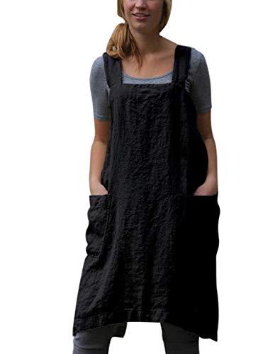 Samgu Vestido De Delantal Casual Mujer Vestido