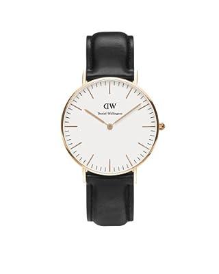 Reloj Daniel Wellington 0508DW de cuarzo para mujer con correa de piel, color negro de Daniel Wellington
