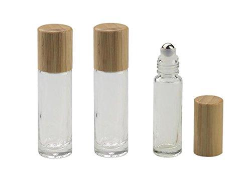 3PCS 10ML/0,35OZ Clear Glas Ätherisches Öl Roll-on Fläschchen Flaschen mit Stahl Roller Balls und...