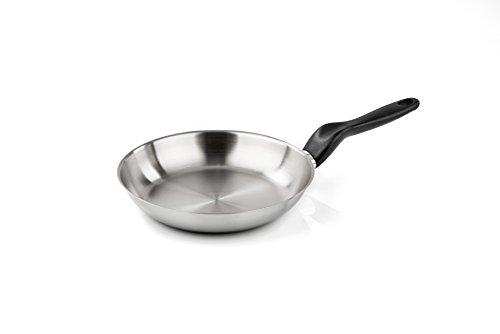 Barazzoni le inoxidabili padella, acciaio inox 18/10, argento, 28 cm