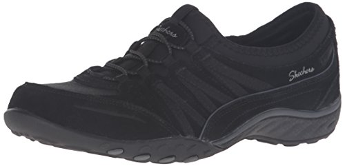 Skechers Women's Relaxed Fit: Breathe Easy - Moneybag Sneaker, Black , 5...
