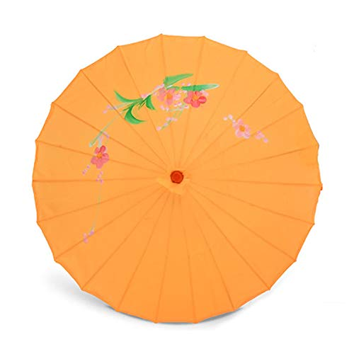 Kostüm Regenschirm Tanz - ZJPP Kostüm-Tanzen-Regenschirm, Tanz-Regenschirm, Handwerks-Regenschirm-Öl-Papierregenschirm-dekorativer Regenschirm, Klassische Blume,Yellow