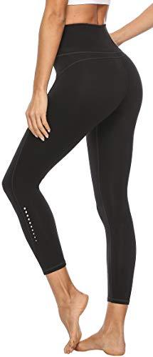 Persit Damen 7/8 Leggings, Sporthose Yogahose Sport Leggins für Damen Yoga Tights Schwarz-XXL