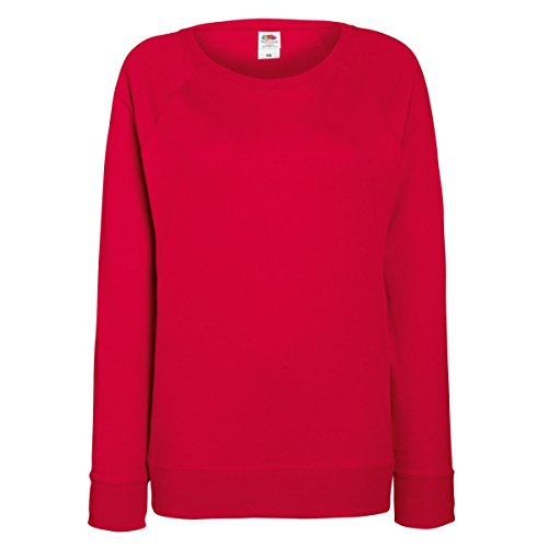 Fruit OF The Loom Damen Raglan Sweatshirt Burgundy