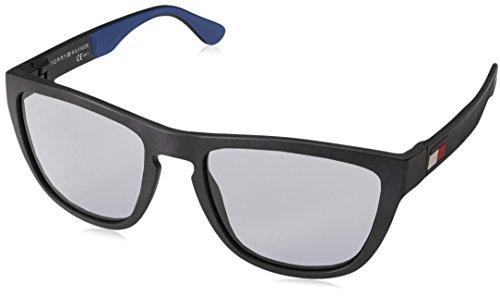 Tommy hilfiger th 1557/s, occhiali da sole uomo, mtt black, 54