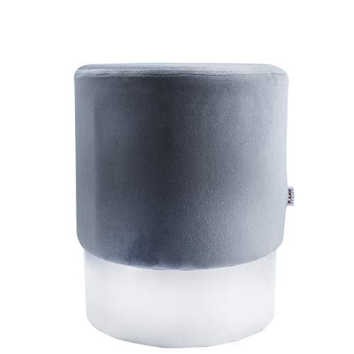 MyShop24h Sitzhocker Modern Hocker Designer Retro Look Grey/Grau