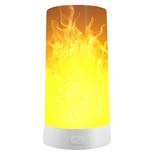 BEITAI Emoticon LED BUYBAY Effetto luce di fiamma Ricaricabile Luce notturna Emulazione di fuoco Lampada tremolante Illuminazione d'atmosfera d'epoca