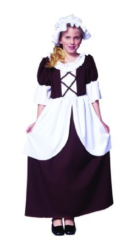 Colonial Kinder Kostüm Girl - Colonial Girl Costume Medium (8-10) by RG Costumes