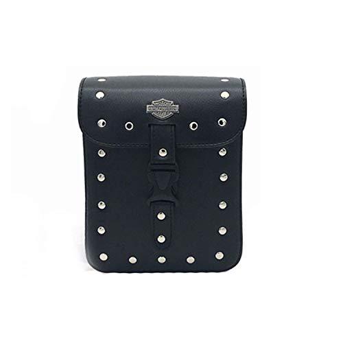 LIDAUTO Motorräder Seitenständer Taschen Motorrad-Sattelstamm Gepäckträger-Boxen hinten PU Leder