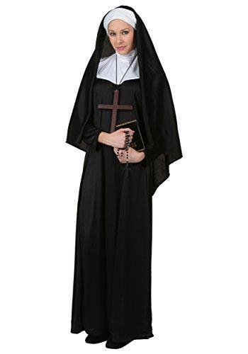 Traditionelle Für Kostüm Nonne Erwachsene - Fun Costumes Erwachsenes traditionelles Nonnen-Kostüm - XL