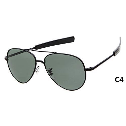 CCGSDJ Optische Sonnenbrille Männer Markendesigner Hochwertiger Goldrahmen Sunnies Pilot Sonnenbrille Männliche Shades