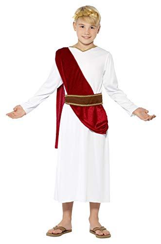 Smiffys Kinder Römischer Junge Kostüm, Robe, Gürtel und Kopfbedeckung, Größe: L, 44061