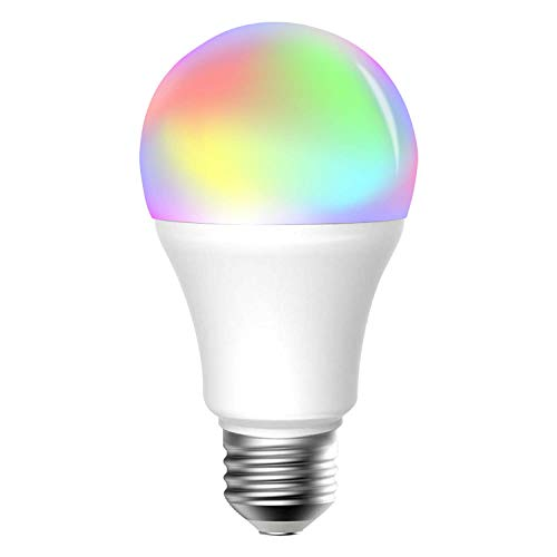 Meross WLAN Smart Mehrfarbige Dimmbare LED Glühbirne Fernbedienung 60W Äquivalent E27 2700K-6500K kompatibel mit Alexa, Google Home und IFTTT