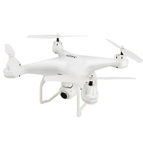 HKFV Kamera-und Foto-Funktionen GPS FPV RC Drohne S20 mit Live-Video und Return Home RTF SJRC S20W intelligente GPS-Positionierung Rückkehr automatisch folgen der Drohne HD Bildübertragung Antenne Vierachser 1080P Dual GPS (Weiß)