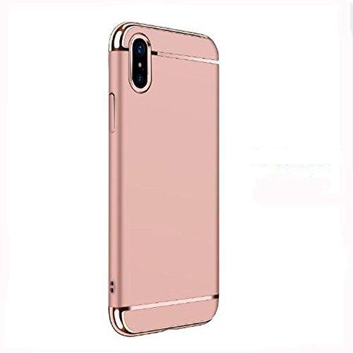 Custodia protettiva per iPhone X, copertura per iPhone X, custodia protettiva per iPhone X con custodia protettiva antiurto Rosa