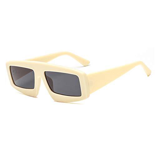 Siwen New Übergroße Damen Square Sonnenbrille Herren Blue Tinted Shades Uv400,Beige Schwarz