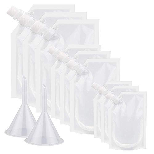 INFILM Trinkflaschen aus Kunststoff, versteckbar und wiederverwendbar, für Camping, Party, Wandern, Outdoor, 20 Stück