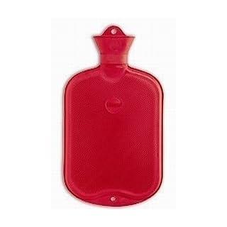 AMPRI 09140 Wärmflasche Halblamelle, 2 L rot