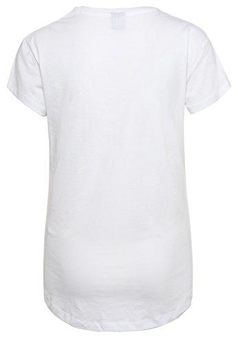 SUBLEVEL Damen Slogan T-Shirt | Basic Print-Shirt | Tailliertes Statement-Shirt aus hochwertigem Jersey Material White