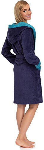 Merry Style Donna Accappatoio 13003 Viola/Blu