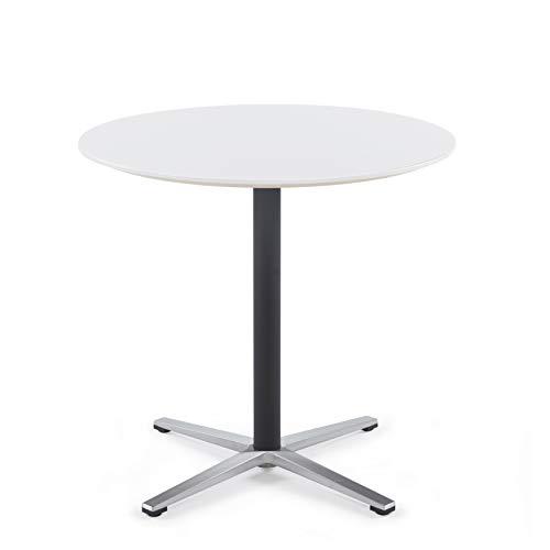 Sunon Bistro Cafe Tisch Büro Konferenz Tee Tisch Küche Garten Esstisch rund Tisch 80x 75cm dt7008, Holz, Moon White, D80xH75cm/31.5x29.5inches -