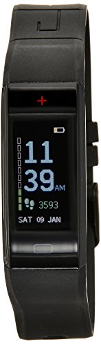 GOQii Vital – Colour Display Blood Pressure Monitor with 3 Months Personal Coaching, Adult (Black)
