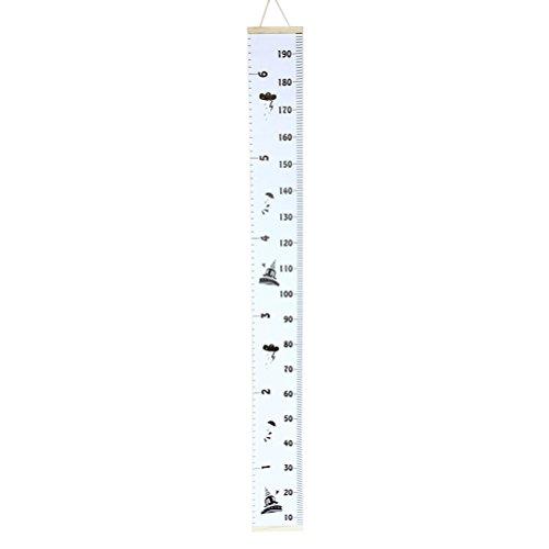 VORCOOL Messlatte aus Segeltuch, hängende Höhe und Wachstum Diagramm mit Karikatur Muster für Kinder (Kind Wachstum Diagramm Hängen)