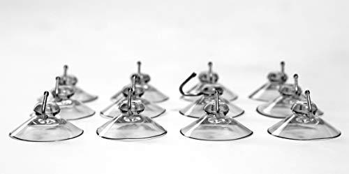 t Saugnapf extra stark PVC weich Made IN Germany (40 mm) Dekohaken für Fenster Saugnapf Wandhaken Set Handtuch Haken für Küche & Badezimmer, aus Kunststoff für Glas Metall Fliesen ()