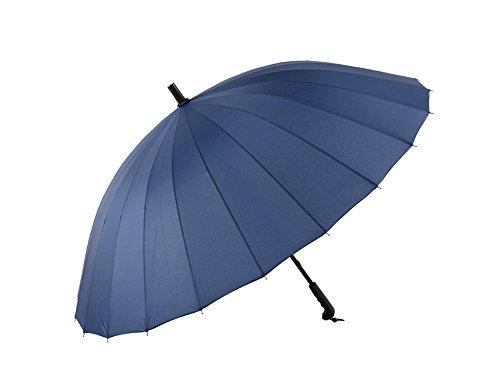 LYYUMBRELLAS ZHDC® Parapluies Homme, Commerce Manche Longue Coupe-Vent Protection Solaire Pluie Adulte Parapluie Parasol (Couleur : Bleu)