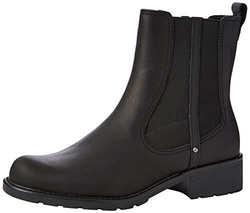 Clarks Damen Orinoco Club Kurzschaft Stiefel, Schwarz (Black Leather), 41.5 EU