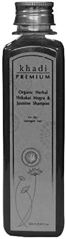 Khadi Premium Organic Herbal Shikakai Mogra & Jasmine Shampoo 250ml / 8.45 fl.oz. For Dry Damaged & Frizzy Hair *Ship from