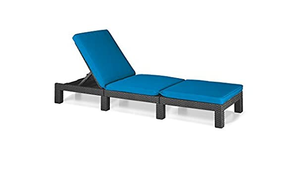 Gardenista Turquoise Replacement Seat Cushion for Keter Allibert Daytona Sun Lounger *Lounger not included*
