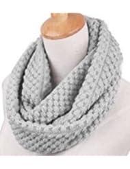 Mesdames capot tricoté cou nervuré femmes de snood hiver sexy écharpe en laine chaude châle casual taille unique