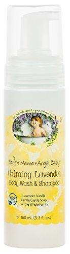 Earth Mama Angel Baby - Champú y gel de baño infantil con efecto calmante (aroma lavanda) Talla:160ml