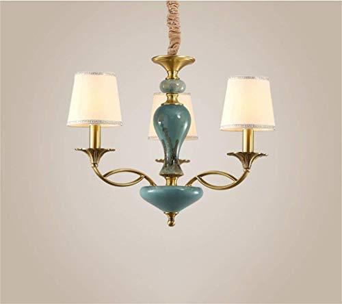 Ama gbyzhmh francese chandelier of american copper luxury lounge, camere da letto ristorante è moderno lampadari della sostanza ceramica di illuminazione lampadario