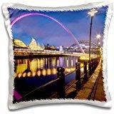 Bridges - England - Gateshead Millennium Bridge and the Sage - 16x16 inch Pillow Case