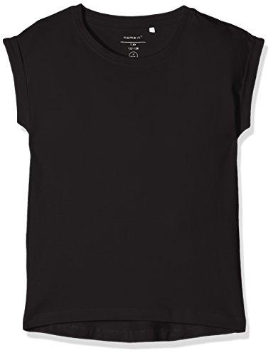 NAME IT Mädchen T-Shirt NKFVILDA SS TOP NOOS Schwarz (Black) 140 (Herstellergröße: 134/140)