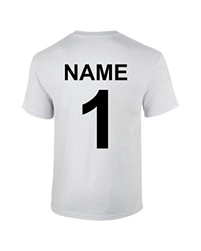 S.B.J - Sportland Funktionsshirt/Laufshirt/Sportshirt Performance T-Shirt mit Rückennummer und Name für Kinder, Gr. M
