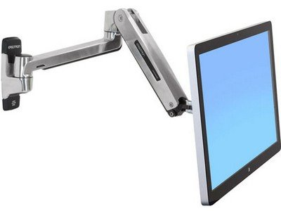 Ergotron 45-383-026 - LX HD Sit-Stand Wall Mount LCD Arm, Polished Ergotron Lx Wall Mount Lcd