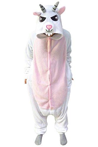 wotogold Damen Tier Ziege Pyjamas und Kinder Cosplay Kostüme X-Large ()