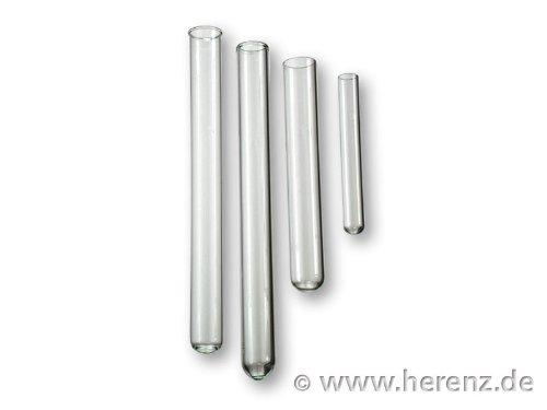 Reagenzgläser 160x16 mm, Reagenzglas, mit Bördelrand, 0,8mm Glaswandstärke, 100 St. TOP QUALITÄT
