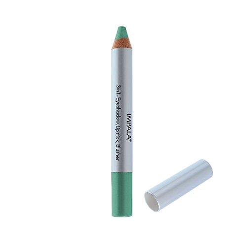 Impala Crayon Exclusif Jumbo 3 en 1 N05 Vert Métallique Yeux Lèvres Fard Tenue Longue