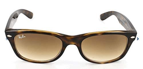 Ray-Ban RB2132 Sonnenbrille New Wayfarer,Gr.52mm (Gestell: Braun, Havanna; Gläser: kristall braun verlauf)