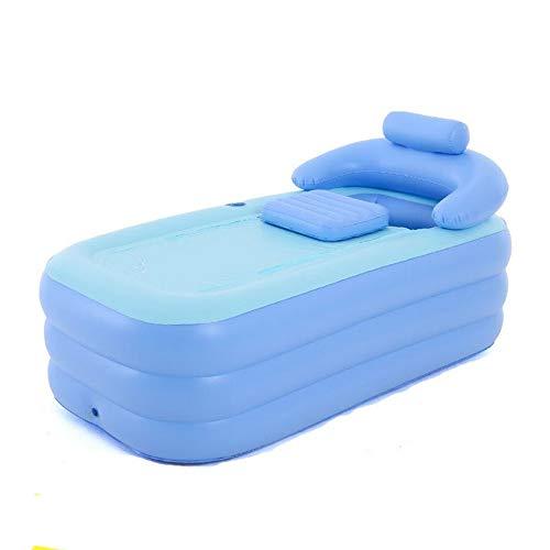 vntoogreat Aufblasbare Badewanne, Komfortbad für Erwachsene, Badewanne, Whirlpool, tragbare Gartenmassage für Familien im Freien, Thermalbad