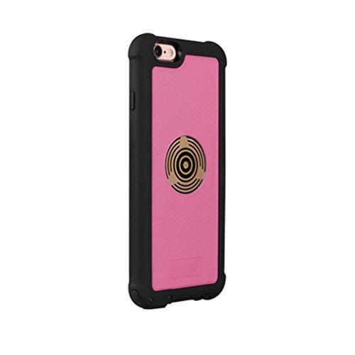 LUFA Pour iPhone 7 4.7 pouces à rotation 360 degrés Smart Smart Charging Stand Car Phone Holder with Case Cover Rose